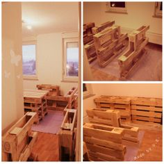 ...transfering... Bed With Led Lights, Pallet, Wood Pallets, Pallets