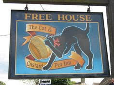The Cat And Custard Pot, Paddlesworth, Kent.   The 23 Weirdest Pub Names InBritain