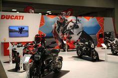Ducati displaying its range of #motorcycles. #Ducati
