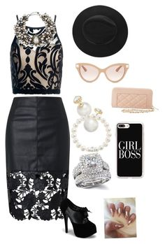 """""""#GirlBoss"""" by ildiko-klara-kulcsar on Polyvore featuring Sans Souci, Charlotte Russe, Casetify, Valentino, Lydell NYC, Kate Spade and Thomas Sabo"""