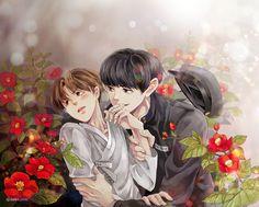 Chanbaek Fanart, Exo Chanbaek, Hot Anime Boy, Anime Boys, Chanyeol, Infinity, Parents, Fan Art, Heart