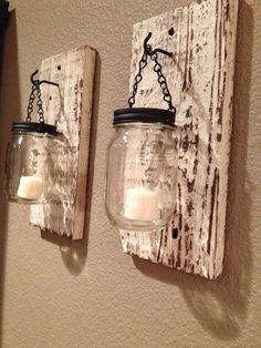 DIY Pallets and Mason jar #Lamps   99 Pallets #palletfurniture #artsandcraftslamp