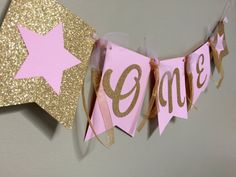 Twinkle Twinkle Little Star Banner Birthday by papermeblossom