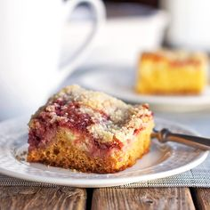 Raspberry Cream Cheese Coffee Cake - Pinch of Yum