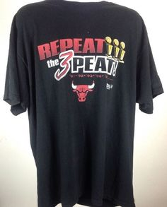 Vintage Fruit of The Loom Chicago Bulls 1996 NBA Championship T Shirt XXL   eBay