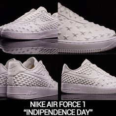 "Sneakers e Patriottismo: le Nike Air Force 1 ""Independence Day"" #nike #air #force #one #independence #day #2015 #sneakers"