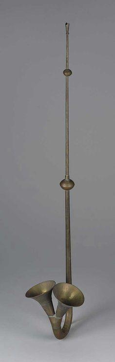 Trompeta (zhajiao) del siglo 19 de China