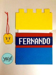 Invitación tema LEGO