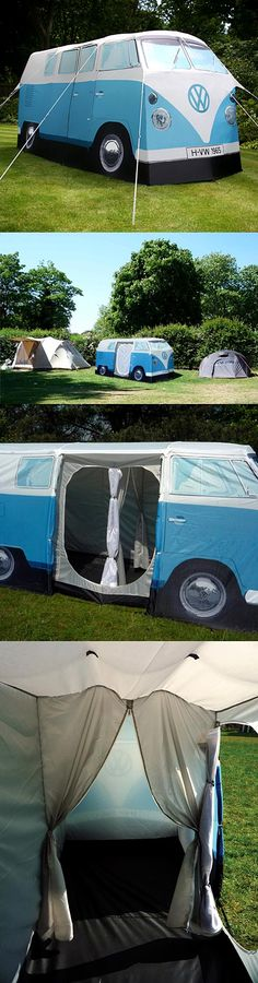 vw camper tent...are you kidding me!? LOL! i think i need this crazy tent. just to make the folks in big sur laugh. ;)
