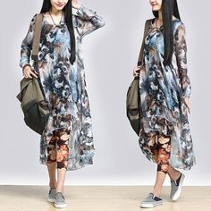 Chiffon Dress- Buykud-
