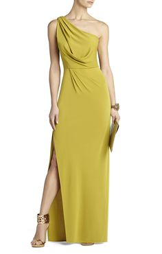 Snejana One-Shoulder Evening Gown | BCBG - $119.20 bridesmaid dress/different color