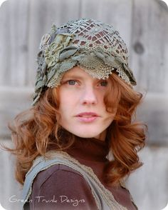Woodland Lace Cloche Hat. $145.00, via Etsy.