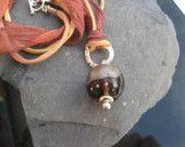 Golden Drop Pendant Lampwork Glass with Silk My Sunshine, Drop, Silk, Pendant, Glass, Etsy, Drinkware, Pendants, Glas