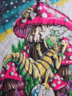 Black Light Poster Psychadelic Hippie Mushroom Cloth Wall Decor