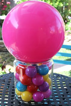 Cheerful Events: Bounce Ball Party Centerpiece candyland