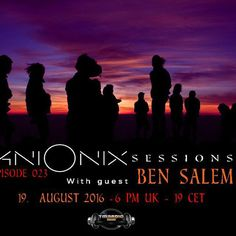 """Check out """"Ben Salem-Ani Onix Sessions Guest Mix [19. August 2016]  -TM-Radio""""…"""