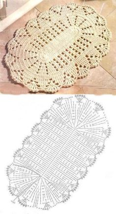 Crochet rug crochet carpet doily lace rug by eMDesignBoutique Mandala Au Crochet, Crochet Doily Rug, Crochet Carpet, Crochet Motifs, Crochet Tablecloth, Crochet Diagram, Filet Crochet, Crochet Shrugs, Diy Crafts Crochet