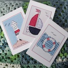 Nautical Notelets - Pack of Six, Two Designs