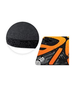 SteelSeries Qck + Fnatic Asphalt Edition Mousepad - Black and Orange
