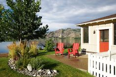 Veranda Beach on Lake Osoyoos - 1950s themed cottage resort just an hour and a half from Kelowna! Even though my kids have been to many luxurious resorts, they actually say THIS is their favorite vacation spot! So relaxing there.