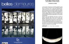 Belles Demeures features the TOH Suspension designed by Raphael Navot for Veronese.