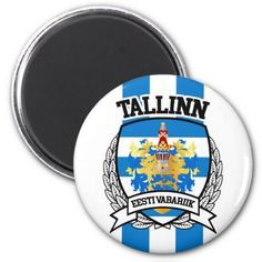 Shop Tallinn Magnet created by FLAGSKDR. Estonia Flag, Political Events, Round Magnets, Paper Cover, Business Supplies, Invitation Cards, Flags, Art For Kids, Wedding Gifts
