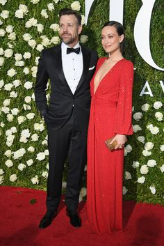 """Jason Sudeikis and Olivia Wilde, the star of the Broadway adaptation of George Orwell's """"1984,"""" wearingMichael Kors Collection."""