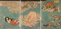 Utagawa Kuniyoshi - Shizu no ama otome Daishokan, 1847-48 - Aeron Alfrey
