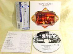 CD/Japan- CREAM Live Cream Volume II w/OBI mini-LP RARE POCP-9117 - ERIC CLAPTON #HardRockPsychedelicRock