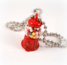 Gumball Machine Necklace Tween Jewelry Fun by foreverandrea,