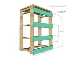 Les plans et les instructions pour construire un tiroir pour votre lessive6