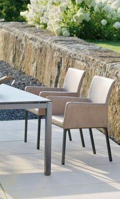 Stern Artus Dining Sessel Taupe Vintage Braun Aluminium/Softleder