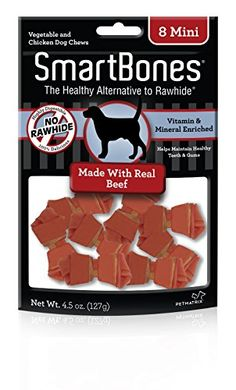 SmartBones Beef Dog Chew Mini 8 piecespack ** Find out more about the great product at the image link. (Note:Amazon affiliate link) Dog Chews, Dog Snacks, Healthy Alternatives, Vitamins, Mini 8, Beef, Vegetables, Dogs, Image Link