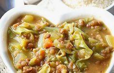 Zuppa lenticchie patate e verza allo zafferano