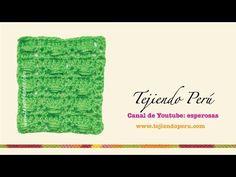 Punto Fantasía N° 19 en tejido crochet tutorial paso a paso. - YouTube