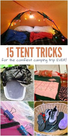 Camping Fun - Camping is a blast – friends, family, yummy campfire food and fun camping games. The one thing I don't love? Sleeping in a tent. When bedtime comes, I can barely sleep because I'm so uncomfortable. So, I've been looking for ways to make our camping trips a little more comfy, and I've definitely found some great ideas with these tent hacks.