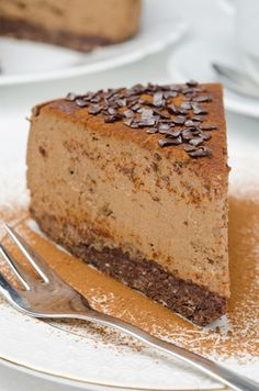 Rich and Tasty Chocolate Espresso Cheesecake | Hillbilly Housewife *substitute Hershey's Kisses for a richer chocolate