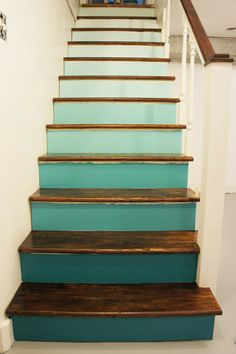 Shady Business: Ombre Staircase Renovation