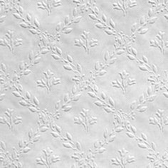 Hamnett / Floral (RD393) - Anaglypta Wallpapers - An embossed wallcovering for that more durable finish that can easily be painted to give the desired results. Small embossed floral trellis design. This wallcovering is white and is designed to be painted a colour of your choice. Please ask for a sample for true texture match.