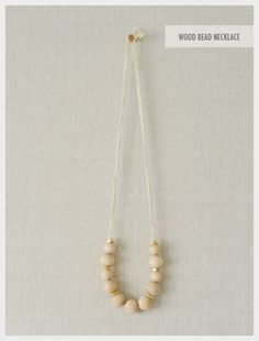 DIY: simple wood bead necklace