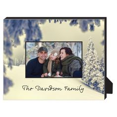 Holiday Snow Personalized Frame, - Photo insert, 8 x 10 Personalized Frame
