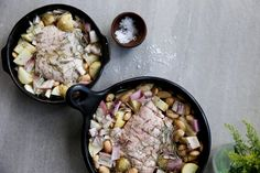 SLOW ROASTED PORK BELLY WITH BUTTER BEANS, SHALLOTS AND ROSEMARY – Eleanor Ozich