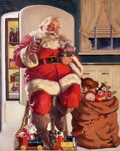 Natal Noel Pai Papai Coca-Cola Desenho Ilustracao Publicidade Anuncios Haddon Sundblom Santa Claus