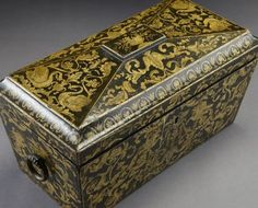 1000+ images about Penwork on Pinterest | Sewing box, Tea caddy ...