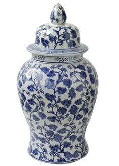http://www.jamaligarden.com Blue-White-Ginger-Jar