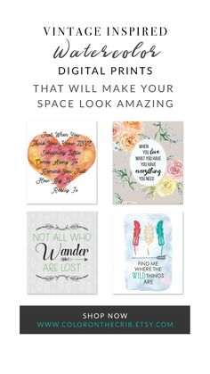 Water color Art Prints, Nursery Art Prints, Adorable Home Decor Art, Shop Art Prints. Nursery Prints, Nursery Art, Digital Prints, Digital Art, Shop Art, Color Art, Lost & Found, Your Space, Vintage Inspired