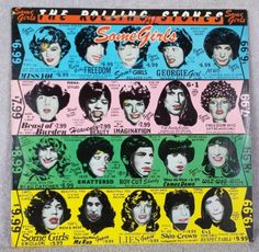 THE ROLLING STONES Some Girls 1978 Vinyl 33 LP Shattered Beast Of Burden ROCK VG