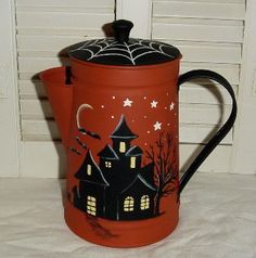 Painted on an old coffee pot