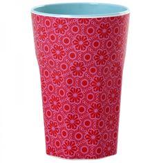 Becher aus Melamin, Marrakesh Print rosa - Rice Denmark #coffee #mug #cup #printed #melamin
