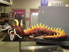 Awesome dragon cake my friend created